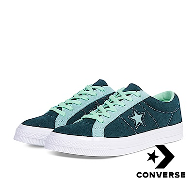 CONVERSE-ONE STAR OX男女休閒鞋-綠