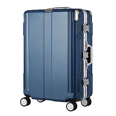 日本LEGEND WALKER 6720-62-25吋發光圓環把手行李箱歐洲藍