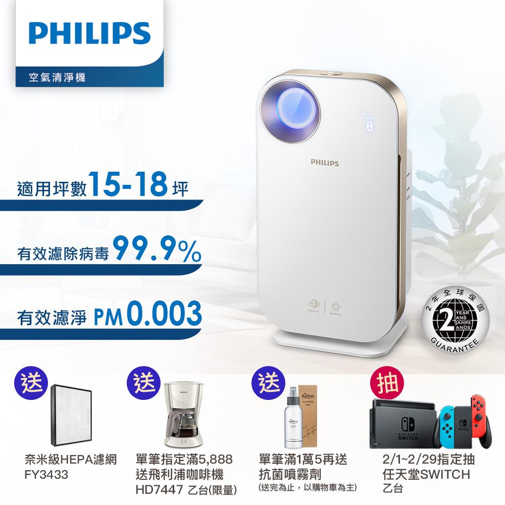 Philips飛利浦 15-18坪 奈米級空氣清淨機 AC4558