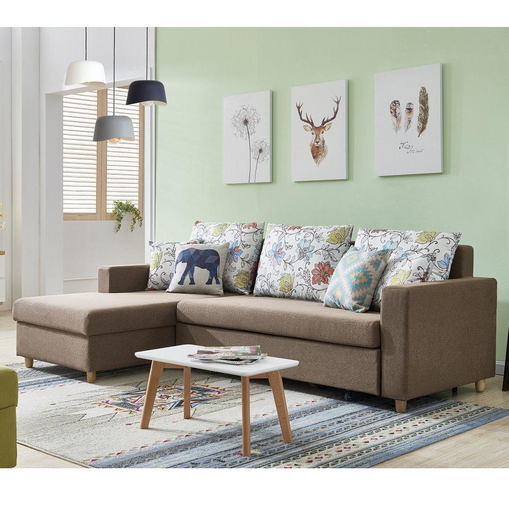 MUNA卡爾頓CARLTON咖啡色功能布沙發床 250X153X80cm