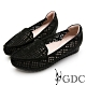 GDC-細緻優雅千鳥格紋羊皮尖頭柔軟休閒鞋-黑色 product thumbnail 1
