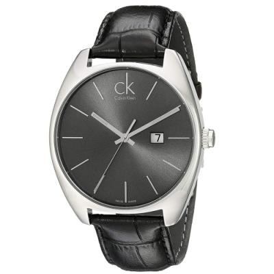 Calvin Klein CK 經典大錶徑黑面時尚腕錶 K2F21107