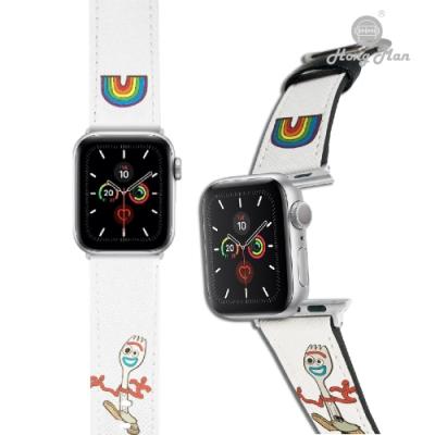 【Hong Man】迪士尼系列  Apple Watch 皮革錶帶 叉奇Forky 42/44mm