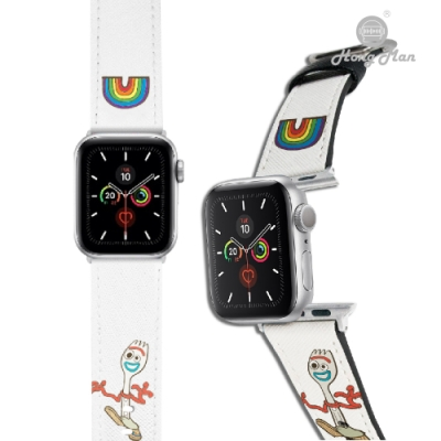 【Hong Man】迪士尼系列  Apple Watch 皮革錶帶 叉奇Forky 38/40mm
