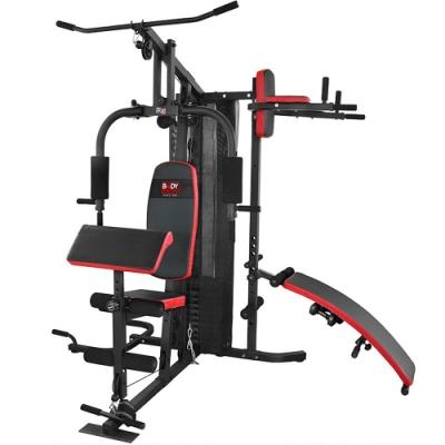 【BODY SCULPTURE】150磅綜合重量訓練機(附護網+二頭肌板)