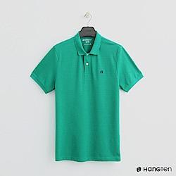 Hang Ten - 男裝 - 簡約素面POLO杉 - 綠
