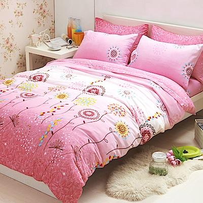 Aileen 柔絲絨 加大四件式被套床包組 幸福紅顏