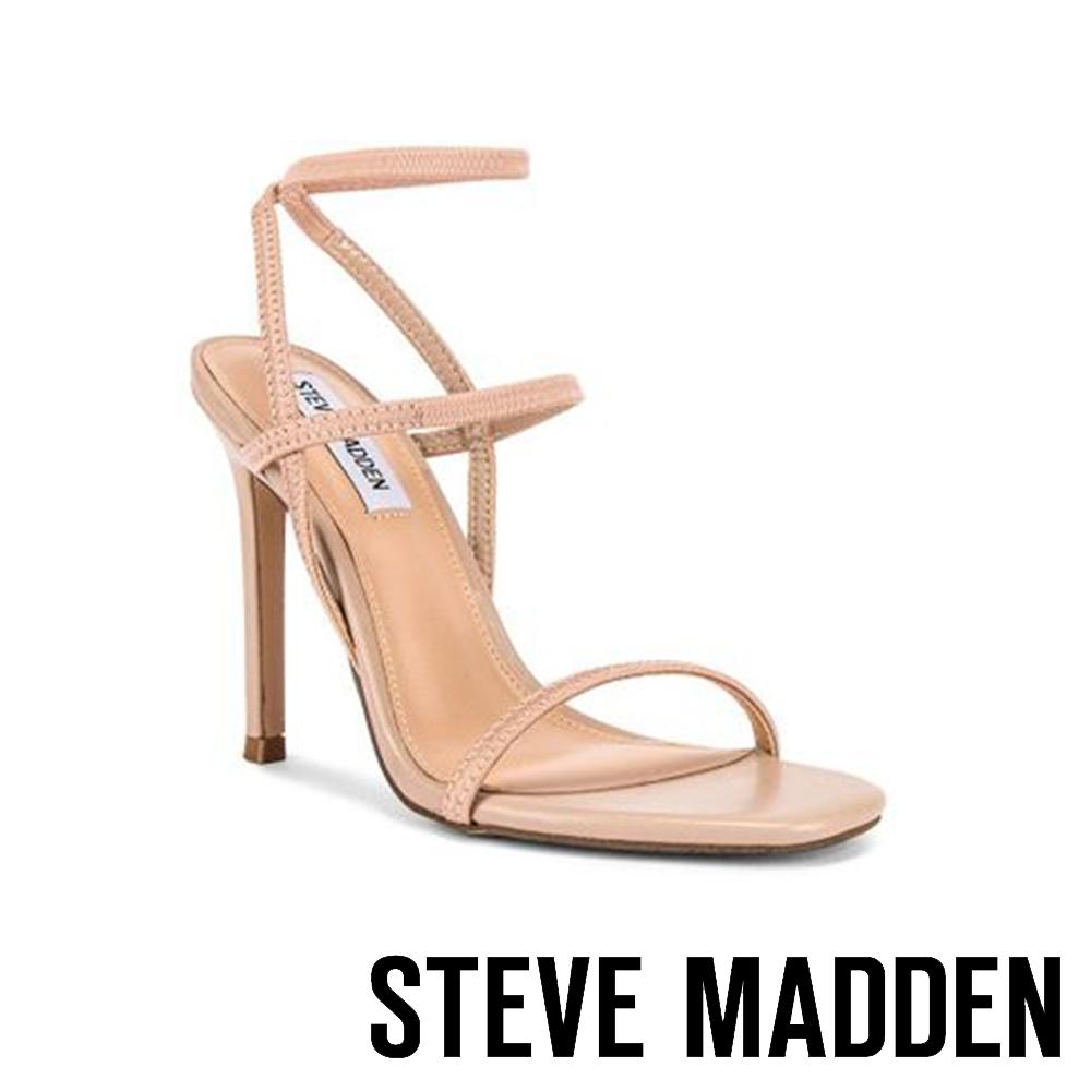 STEVE MADDEN-NECTUR 繞踝雙帶一字高跟涼鞋-杏色