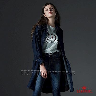 BRAPPERS 女款 長寬版牛仔襯衫外套-藍