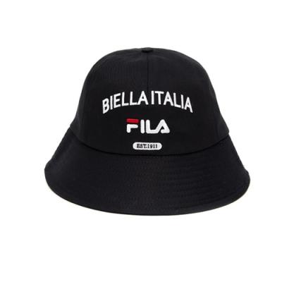 FILA 復古圓頂漁夫帽 筒帽-黑 HTV-1208-BK