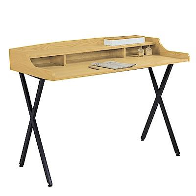 文創集 安琪拉工業風4尺雙色書桌/電腦桌-120x59x91cm免組