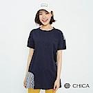 CHICA 甜美無印風拼接格紋純棉上衣(2色)