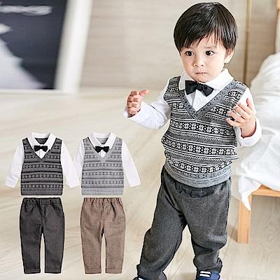 baby童衣 紳士造型假兩件背心上衣搭長褲 套裝 82053