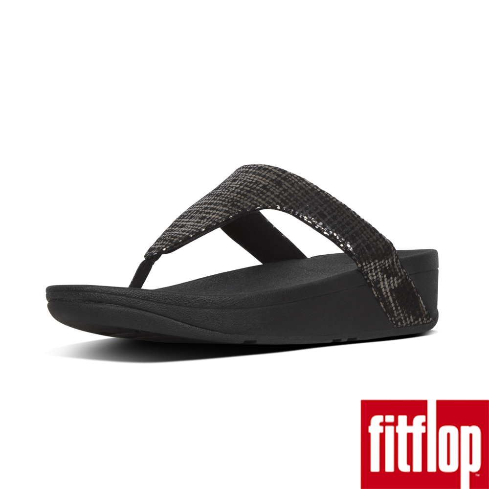 FitFlop CHAIN PRINT夾腳涼鞋黑色