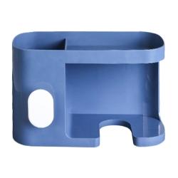 【FJ】免穿孔多功能置物吹風機架(浴室收納必備)