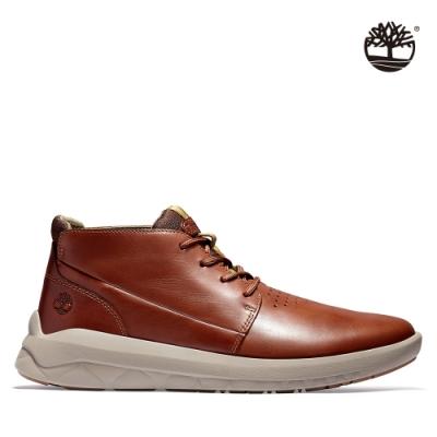 Timberland 男款中棕色全粒面查卡靴 A2HEZ