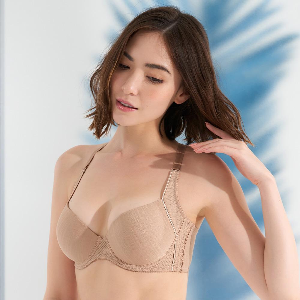 黛安芬-T-Shirt Bra輕軟鋼圈無痕款 B-E罩杯內衣 經典裸色