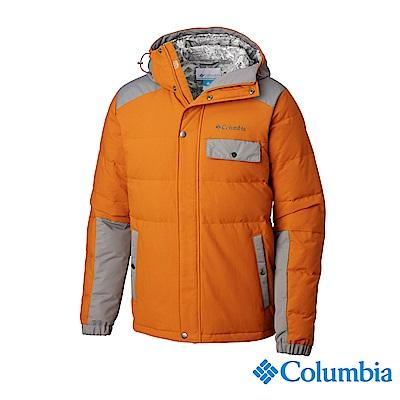 Columbia哥倫比亞 男款- 防潑連帽羽絨外套-土黃 UWE12710OC