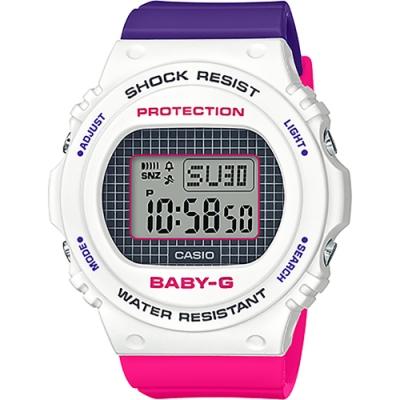 CASIO 卡西歐 BABY-G 網球格紋手錶(BGD-570THB-7)