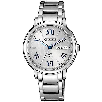 CITIZEN 星辰 專屬星座光動能時尚腕錶-銀(EW2420-51A)