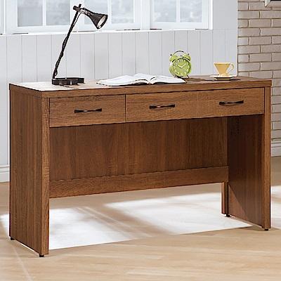 AS-艾拉淺胡桃4尺三抽書桌-120x59x82.9cm