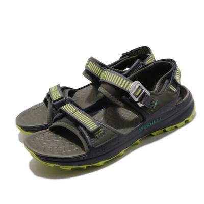 Merrell 涼拖鞋 Choprock Strap 運動 男鞋 戶外 魔鬼氈 耐磨 黃金大底 涼爽 透氣 綠 灰 ML48795