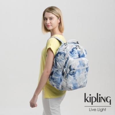 Kipling 率性渲染藍機能手提後背包-SEOUL