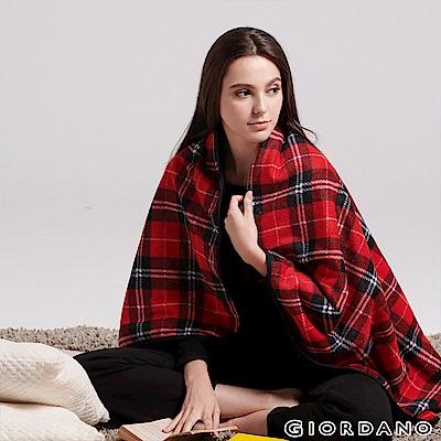 GIORDANO Homewear系列厚實保暖格紋刷毛毯-25 紅黑格紋