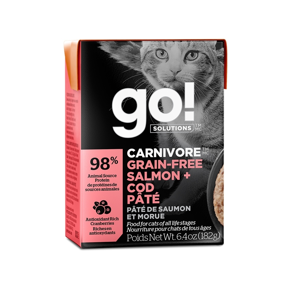 go! 豐醬無穀海洋鮭鱈 182g 鮮食利樂貓餐包 (主食罐 肉泥)