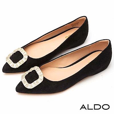 ALDO 原色佐造型水鑽內增高尖頭鞋~尊爵黑色