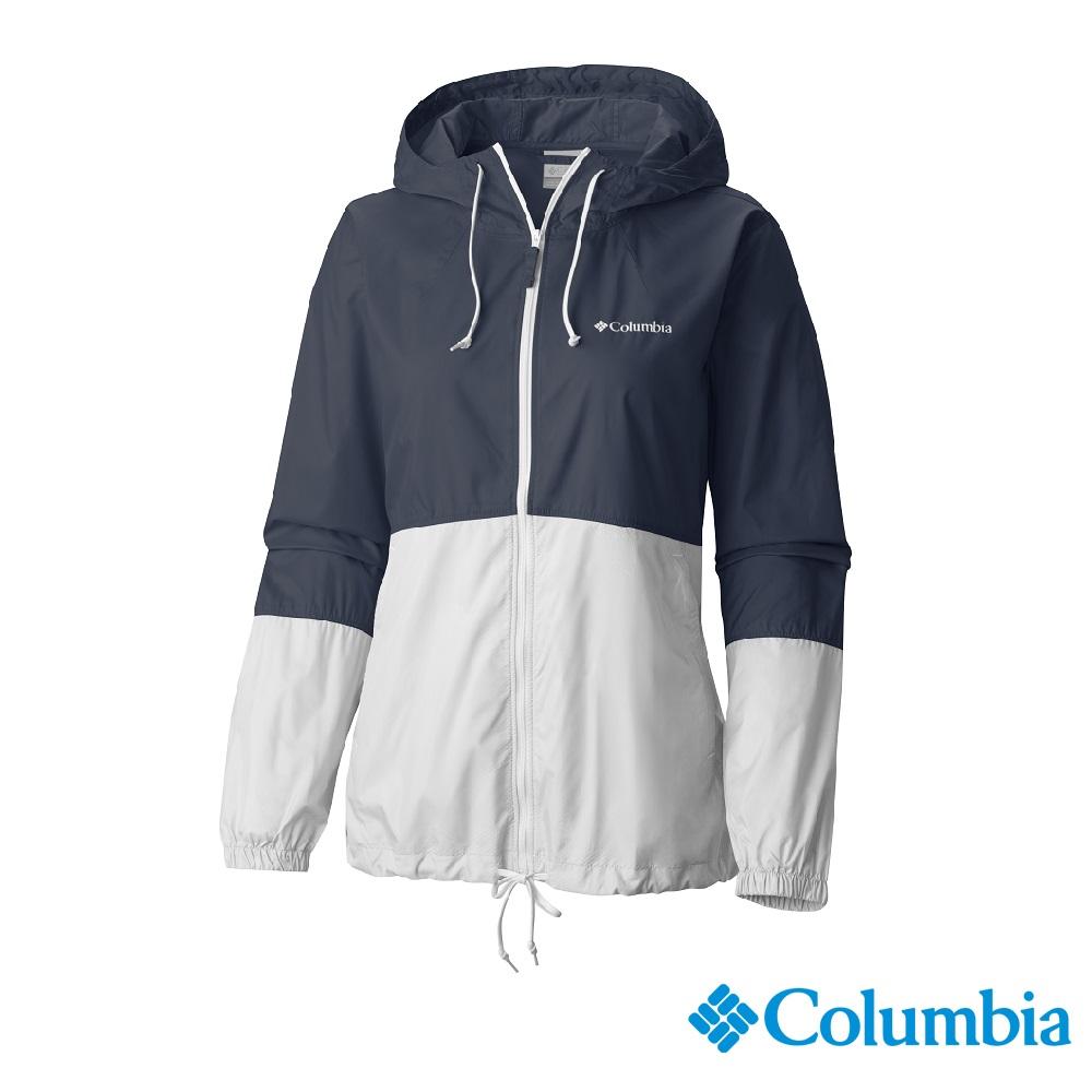 Columbia 哥倫比亞 女款-防潑水風衣-深藍 UKR30100NY