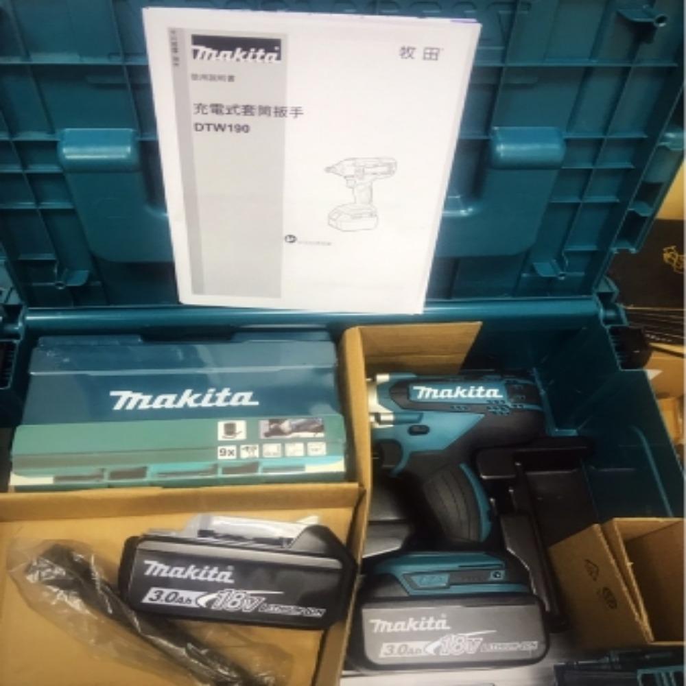 MAKITA牧田 18V 衝搫套筒板手 DTW190JX3 3.0AH 附套筒組 接桿