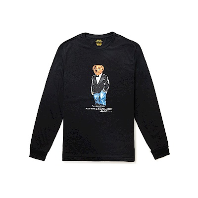 Polo Rlaph Lauren 年度熱銷Polo熊長袖T恤-黑色