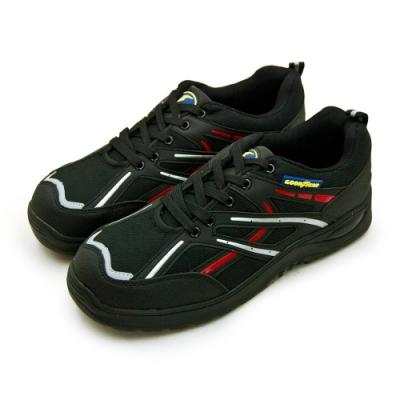 GOODYEAR 固特異鋼頭防護認證安全工作鞋 驚天盾L系列 黑銀紅 83932