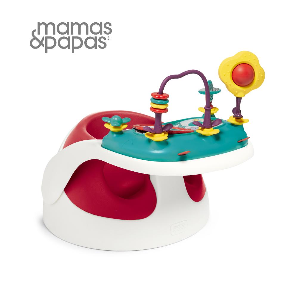 Mamas&Papas 二合一育成椅v2-小丑紅(附玩樂盤)