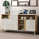 Homelike 蜜雪兒5.3尺石面餐櫃-160x41x84cm-免組裝