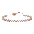 apm MONACO法國精品珠寶 閃耀玫瑰金色z字鑲鋯可調式手環手鍊
