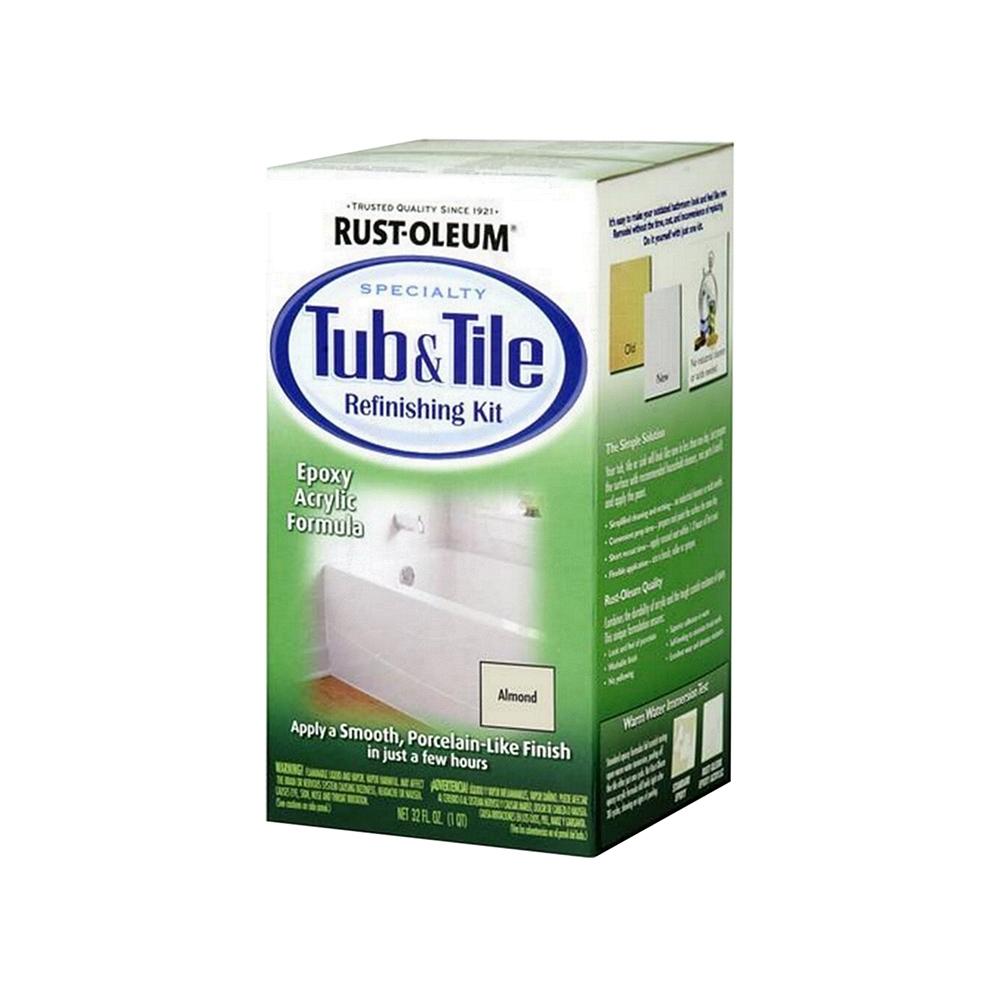 美國RUST-OLEUM樂立恩 浴缸磁磚表面修復組-(亮白色)