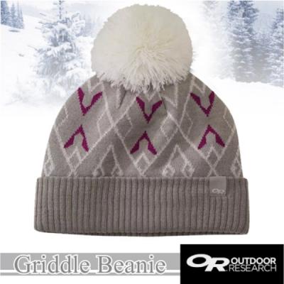 Outdoor Research 新款 Griddle Beanie 羊毛冬日復古小圓球毛帽.保暖針織帽.毛線帽.羊毛帽_月光石灰