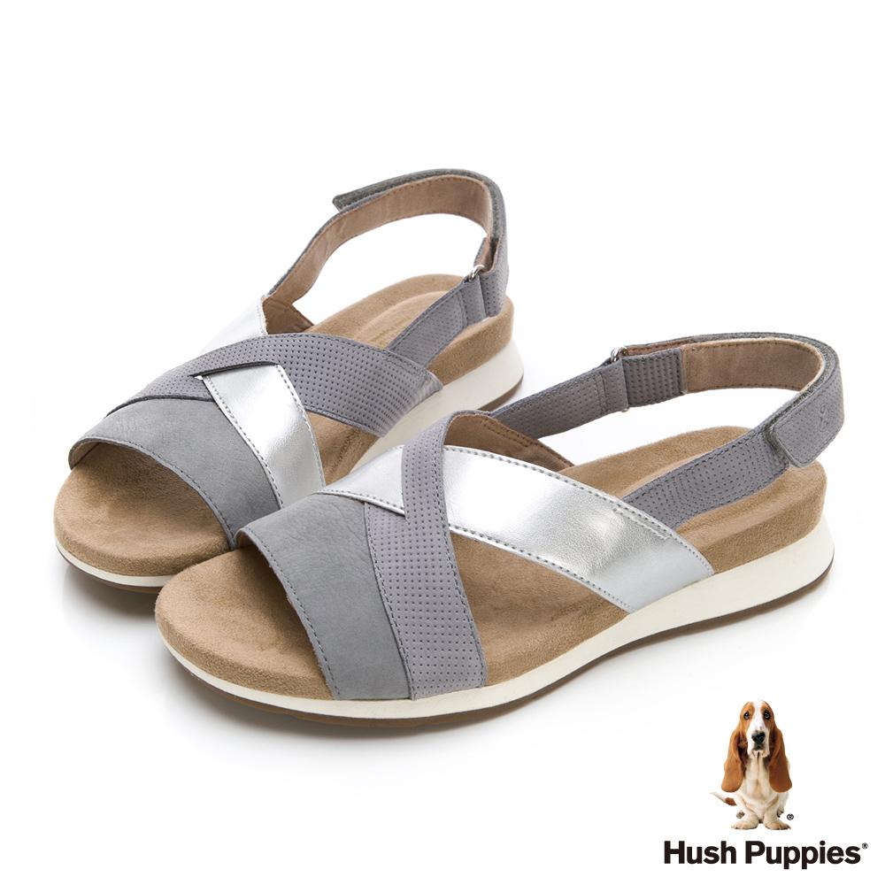 Hush Puppies Pepper 機能涼拖鞋-淺灰