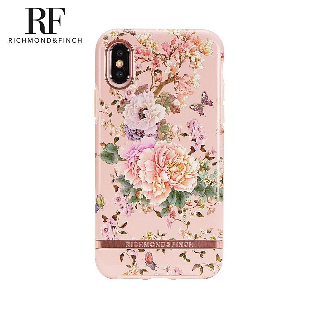 RF瑞典手機殼 玫瑰金線框-浪漫牡丹 (iPhone Xs Max 6.5吋)