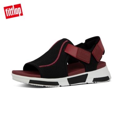 【FitFlop】ALYSSA SANDALS 易穿脫舒適運動風休閒鞋-女(紫櫻紅/黑色)