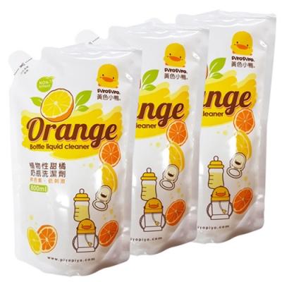 黃色小鴨 奶瓶洗潔劑補充包800ML/3入(香甜橘油)