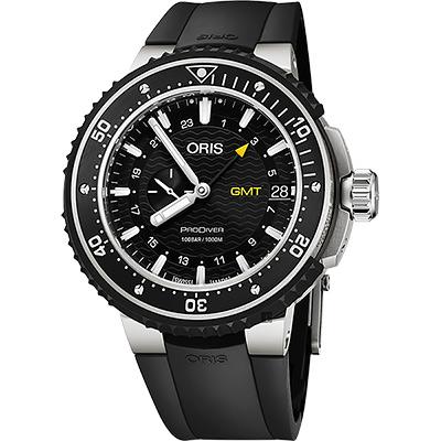 ORIS 豪利時  ProDiver GMT雙時區千米潛水錶-黑/49mm