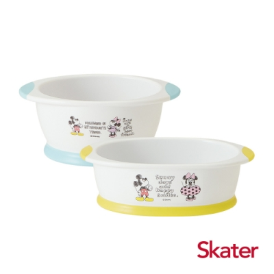 Skater幼童餐碗+深口盤 (米奇)