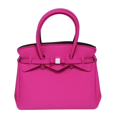 SAVE MY BAG 義大利品牌 MISS系列 桃紅色超輕量手提托特包(無吊牌)