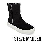 STEVE MADDEN-GARRSON毛絨厚底拉鍊短靴-絨黑
