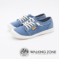 WALKING ZONE 防潑水系列百搭國民便鞋女鞋-藍(另有紅)