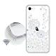 iPhone SE 2020/SE2 浪漫彩繪 水鑽空壓氣墊手機殼(風信子) product thumbnail 1