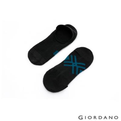 GIORDANO 中性款抗菌隱形襪(兩雙入) - 07 黑